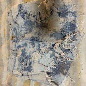 Pants - Acid washed distressed Jean Shorts Sz 3